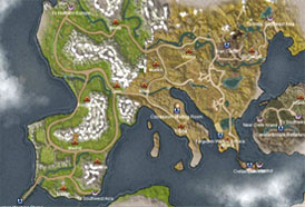 Map Atlantica - southern-europe
